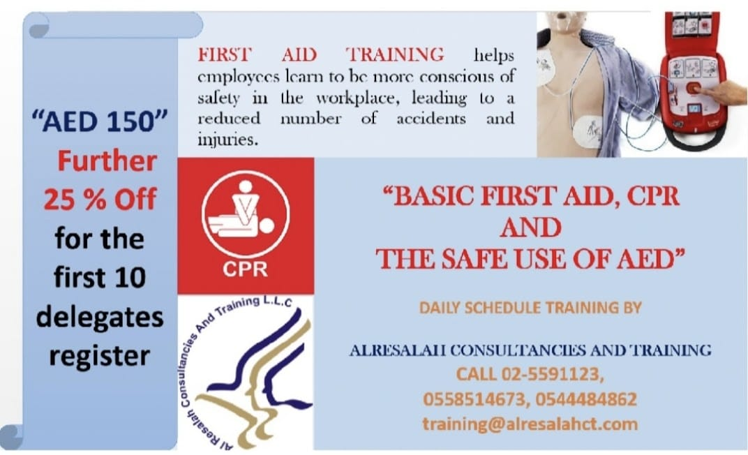 Basic First Aid , CPR, The safe use of AED